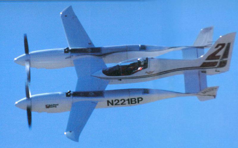 Quickie q2 - базовый двухместный вариант самолёта, оснащённый авиадвигателем марки volkswagen мощностью в 64 лс